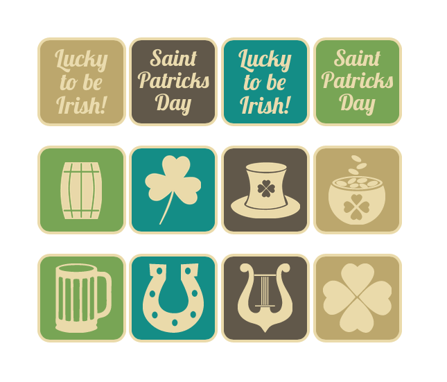 Saint Patrick's Day Vintage Web Buttons - Normal View