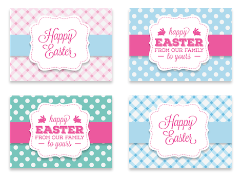 Easter greeting banners